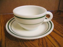 Vtg. Anchor Hocking Fire King 350 Saratoga Cup & Saucer - $22.43