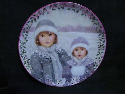 "Chantal Poulin's "" Forever Friends"" in The Kindred Moments Series Plate"