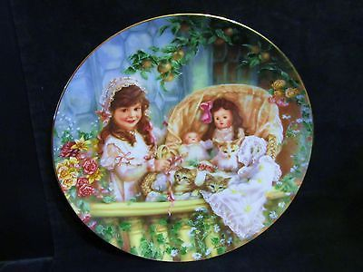 "Sandra Kuck's "" Cats in The Cradle"" in The Hearts and Flowers Series Plate"
