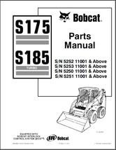 Bobcat S175 / S185 Turbo Skid Steer Loader Parts Manual CD  --  S 175 185 - $12.00