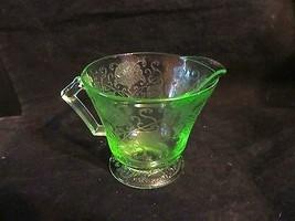 Hazel Atlas Green Depression Florentine No.2 Creamer - $20.56