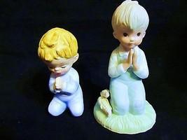 "Vintage Lefton,Hand Painted,"" Pair of Boys Praying-03848""  Figurines - $23.36"