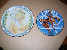 Avon 1996 Team USA & Cherished Teddies Collector Plates - $19.62