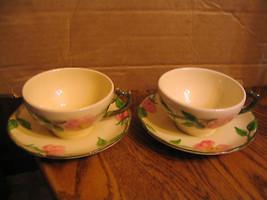 """Vintage Franciscan 'Desert Rose"""" 2 Cup & Saucer Sets - $28.04"""