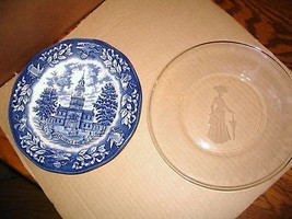 "Avon "" Independence  Hall & First Lady "" Collectors Plates - $34.58"
