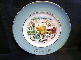 "Avon 1980 ""County Christmas Plate Series"" Collector Plate              ... - $18.68"