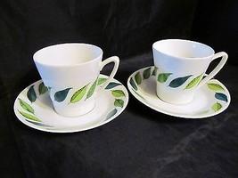 "Vintage  Pair of Swedish ""UE Leaf Demitasse ""Tea Cup & Saucer - $28.04"