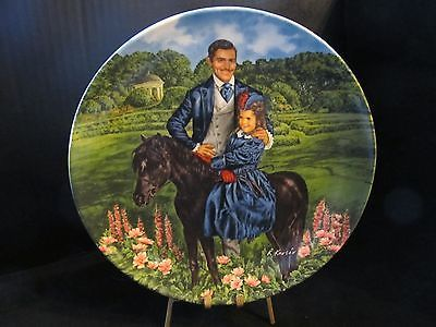 "Raymond Kursar's Gone With The Wind "" Bonnie & Rhett "" Collector Plate"