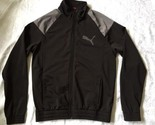 Men's PUMA  Black And Gray Full Zip Track Warm Up Jacket, Size Large S