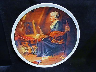 "Norman Rockwell's "" 1979 Mother's Day- Reflections "" Collector Plate"