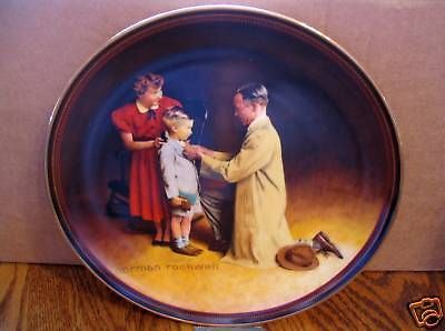 "Norman Rockwell's "" Ready For The World"" in ( The Ones We Love Series )  Plate"