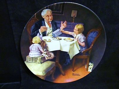 "Norman Rockwell's Heritage Collection Series "" The Gourmet"" Collector Plate"""