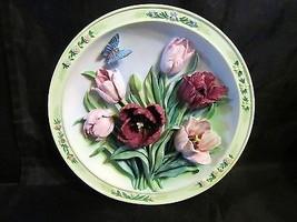"Lena Liu's Beautiful Gardens "" The Tulip Garden "" Collector Plate by Bra... - $20.99"
