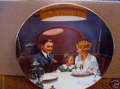 "Norman Rockwell's "" The Birthday Wish"" Collector Plate"
