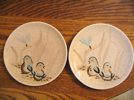 "Vintage Red Wing ""Bob White Quail"" Bread &Butter Plates - $32.71"