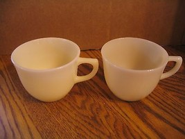 Pair of Vintage Fire King Ivory Coffee Cups - $22.43