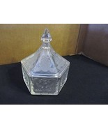 """Vtg.  Indiana Glass """" Clear Tiara Hexagon -Double Eagle & Stars"""" Candy D... - $28.04"""