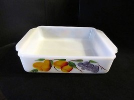"Vintage Fire King Milkglass"" Gay Fad "" Baking Dish & Bread Pan / Cover - $40.19"