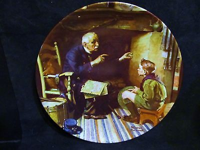 """Norman Rockwell's Heritage Collection Series """" The Veteran"""" Collector Plate"""