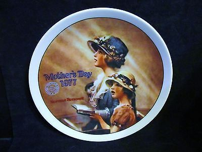 """Norman Rockwell's 1977 Mothers Day  """"Faith """" Collector Plate"""