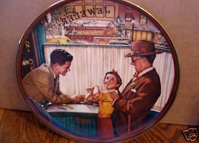 "Norman Rockwell's "" A Time To Keep"" in (The Ones We Love ) Collector Plate"