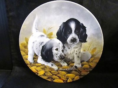 "Lynn Kaatz's Field Puppies ""Fine Feathered Friends-English Setters"" Coll. Plate"