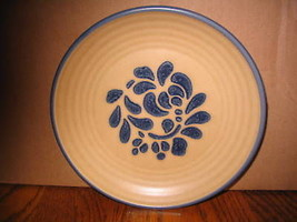 "Pfaltzgraff ""Folk Art Blue Floral Design"" Salad Plate - $14.01"