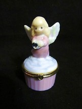 """Precious Moments"""" ( EMPRO11) Figural""""Porcelain Angel, Ring,""""Hinged Box   - $18.68"""