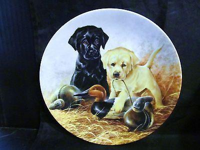"""Lynn Kaatz's Field Puppies """"A Per-fect'Set-Labrador-Retrievers """"  Coll. Plate"""