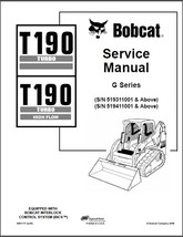 Bobcat T190 Turbo / High Flow Skid Steer Loader Service Repair Manual CD - T 190 - $12.00
