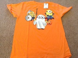 Halloween Despicable Me 2 Ghost Dracula Vampire Mediev Minion Orange shirt s m l - $9.05