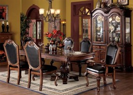 Acme 04075 Chateau De Ville Traditional Cherry Finish Dining Table Set