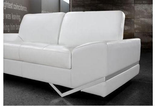 Special Order Vanity White Leather Sectional Sofa Set Contemporary Design Living Room