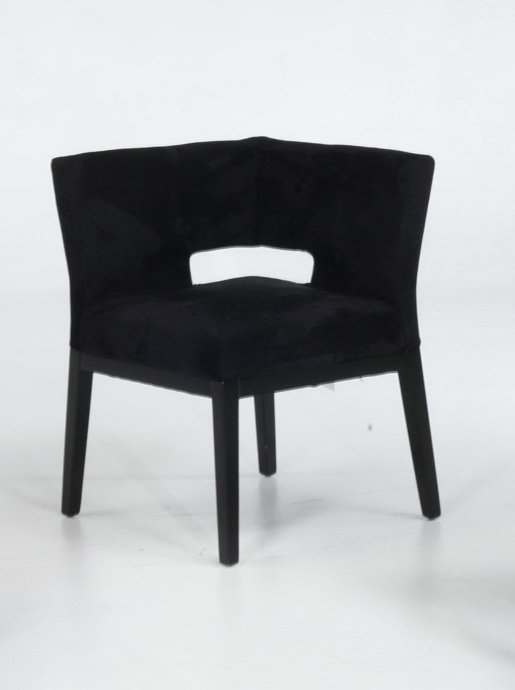 Armen Living LC312CRMFBL Black Microfiber Corner Chair