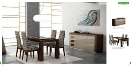 Chic Modern ESF Irene Cappuccino Lacquer & Beige Accents 5 Piece Dining Set