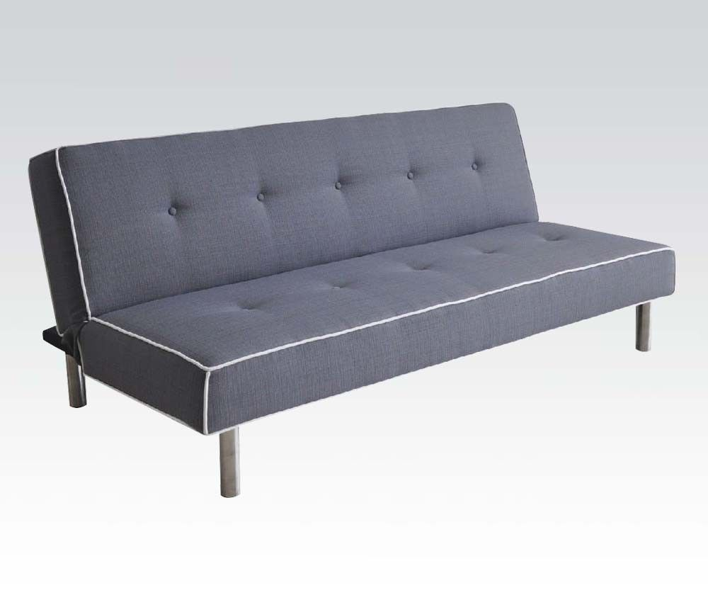 Acme 57020 Modern Gray Fabric Sleeper Sofa