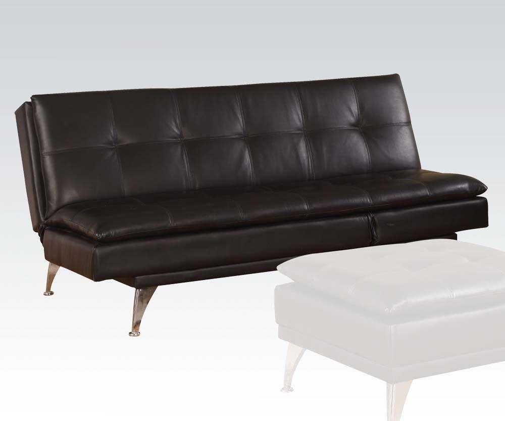 Acme 57080 Modern Black PU Adjustable Sleeper Sofa