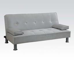Acme 57068 Modern Silver PU Sleeper Sofa