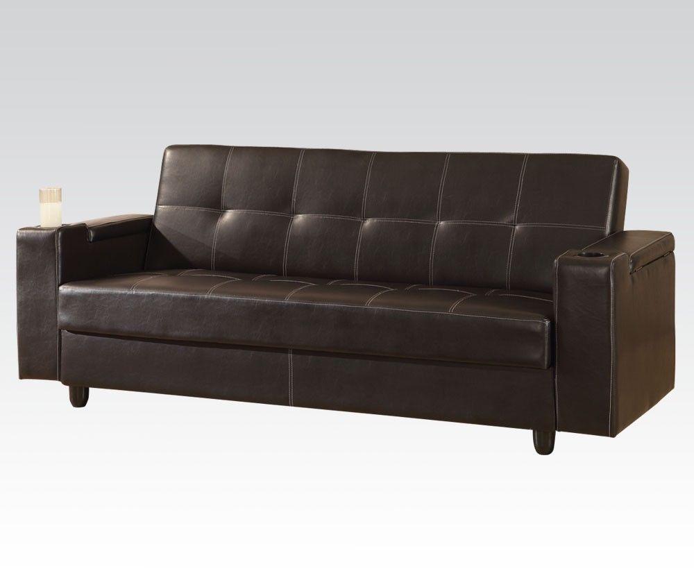 Acme 57089 Modern Brown PU Adjustable Sectional Sofa