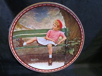 "Norman Rockwell's "" Breaking The Rule"" A 1987  A Mind of Her Own Collector Plate"