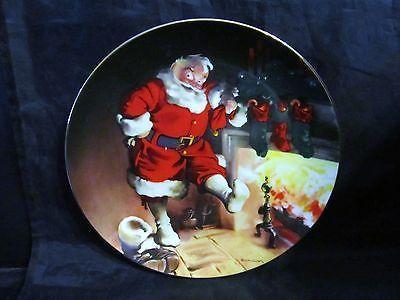 "Haddon Sundblom Santa's Series "" Santa By The Fire ""Collector Plate"