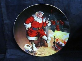 "Haddon Sundblom Santa's Series "" Santa By The Fire ""Collector Plate - $23.36"