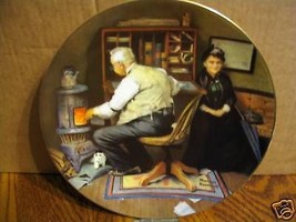 "Norman Rockwell's Golden Moments Series  "" Keeping Company"" Collector Plate - $17.99"
