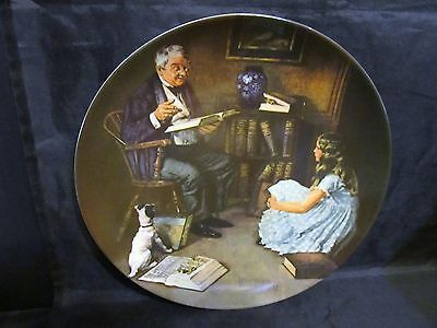 """Norman Rockwell's Heritage Collection Series """"The StoryTeller """" Collector Plate"""