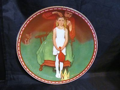 """Norman Rockwell's """"Second Thoughts """"A 1987  Mind of Her Own Collector Plate"""