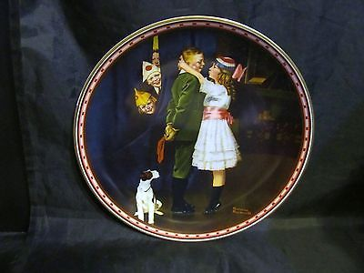 """Norman Rockwell's """" Kiss and Tell """"A 1988  Mind of Her Own Collector Plate"""