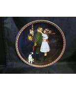 "Norman Rockwell's "" Kiss and Tell ""A 1988  Mind of Her Own Collector Plate - $18.68"