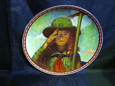 """Norman Rockwell's """" On My Honor """"A 1988  Mind of Her Own Collector Plate"""