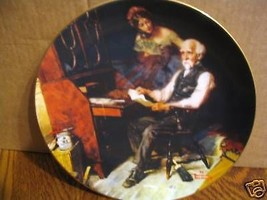 "Norman Rockwell's Golden Moments Series ""The Love Letters"" Collector Plate - $15.99"