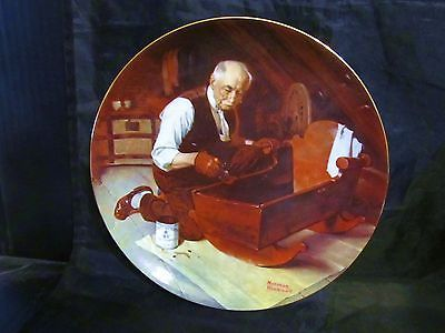"""Norman Rockwell's """"Grandpa's Gift """"A 1987 Golden Moments Collector Plate"""
